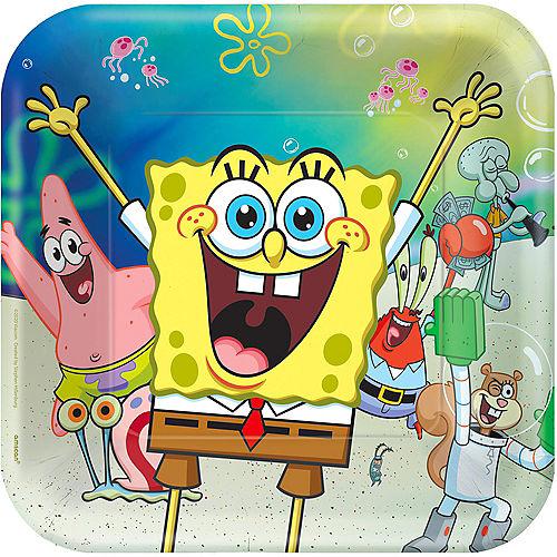 SpongeBob SquarePants & Friends Paper Square Lunch Plates, 9in, 8ct Image #1
