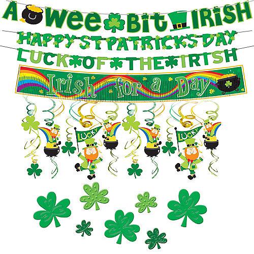 St. Patrick's Day Window Decorating Kit Image #1