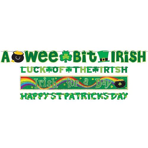 St. Patrick's Day Window Decorating Kit Image #2
