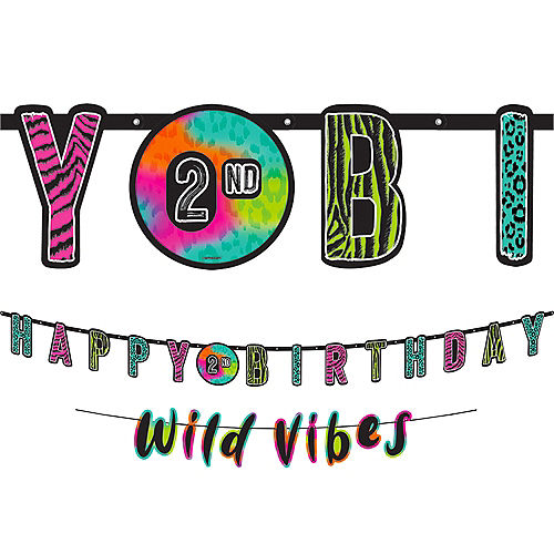 Wild Child Personalized Birthday Banner Kit 2ct Image #1