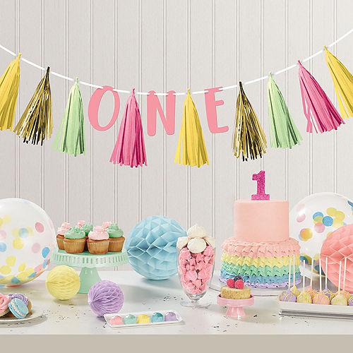 Pink, Mint & Gold First Birthday Tassel Garland Image #2