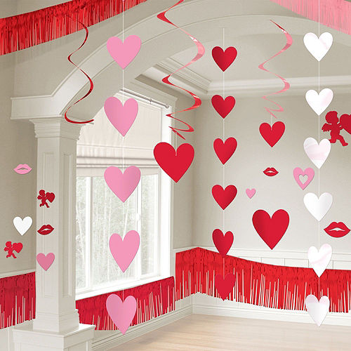 Pink Valentine's Day Heart Hanging Decorating Kit Image #4
