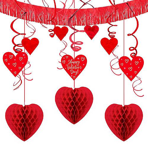 Red Valentine's Day Heart Swirl Decoration Set Image #1