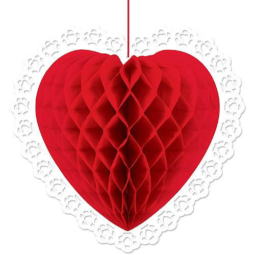 Red Valentine's Day Heart Swirl Decoration Set Image #2