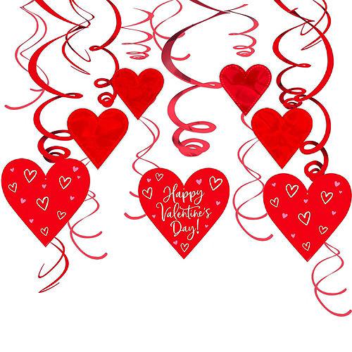 Red Valentine's Day Heart Swirl Decoration Set Image #4