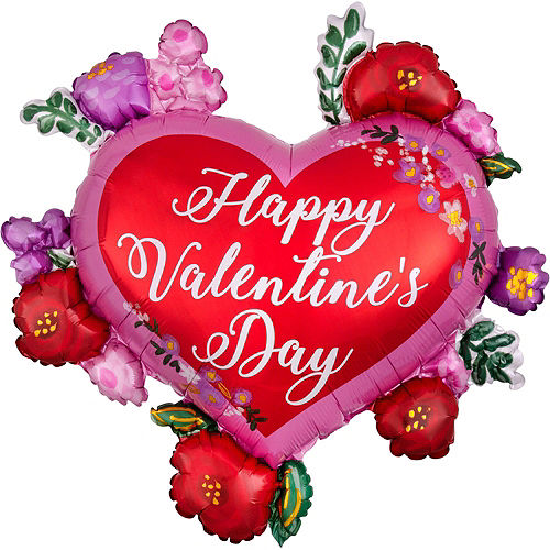 Valentine's Day Floral Heart Balloon Kit Image #5