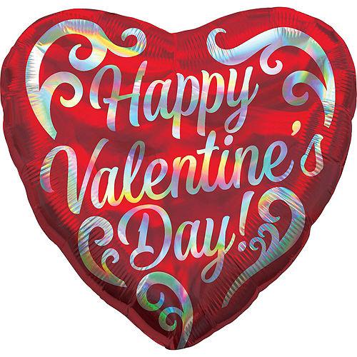 Silver Happy Valentine's Day Heart Balloon Kit Image #4
