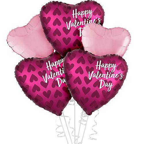 Pink Valentine's Day Heart Balloon Kit Image #1