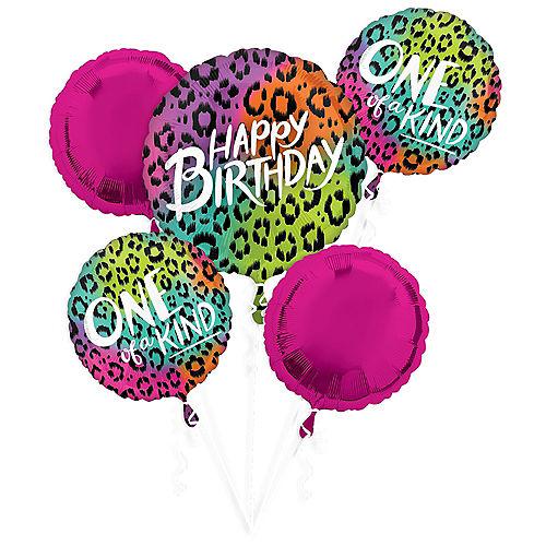 Wild Child Birthday Balloon Bouquet 5pc Image #1