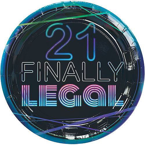 Finally 21 Birthday Lunch Plates, 9in, 8ct Image #1