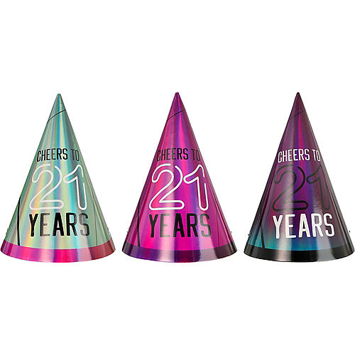 Finally 21 Birthday Party Hats, 6ct Image #1