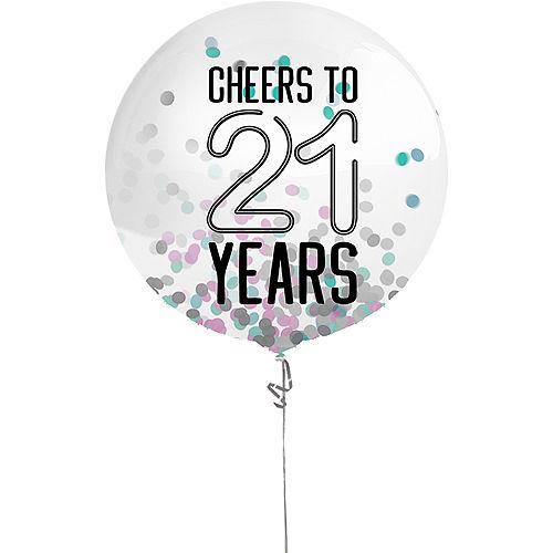 Finally 21 Birthday Confetti Balloon, 24in Image #1