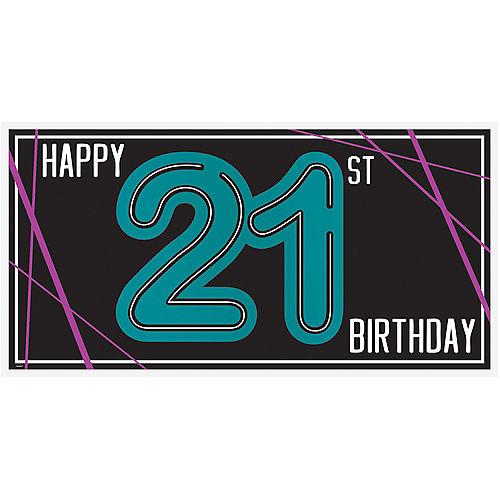 Finally 21 Birthday Horizontal Banner Image #1