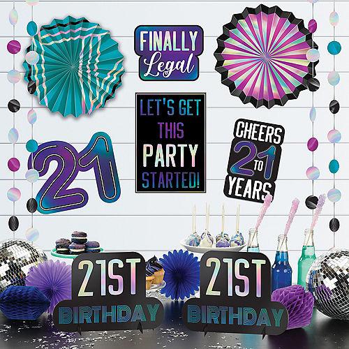 Finally 21 Birthday Room Decorating Kit, 12pc Image #1