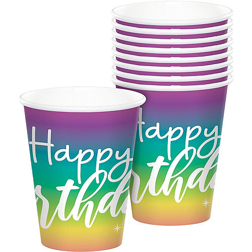 Sparkle Birthday Paper Cups, 9oz, 8ct Image #1
