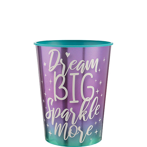 Metallic Sparkle Plastic Favor Cup, 16oz Image #1