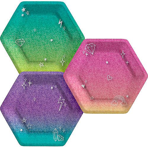 Prismatic Sparkle Birthday Paper Dessert Plates, 7in, 8ct Image #1