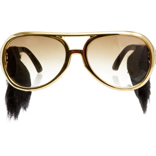 Rock n Roll Glasses with Sideburns Image #1