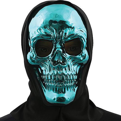 Metallic Blue Skull Face Mask Image #1
