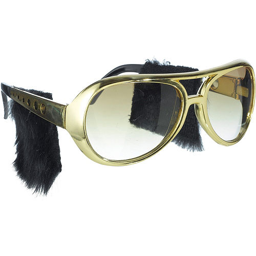 Rock n Roll Glasses with Sideburns Image #2