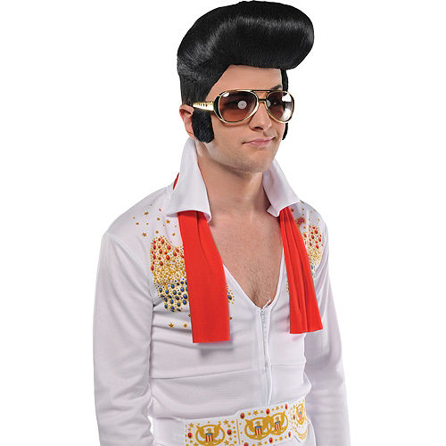 Rock n Roll Glasses with Sideburns Image #3