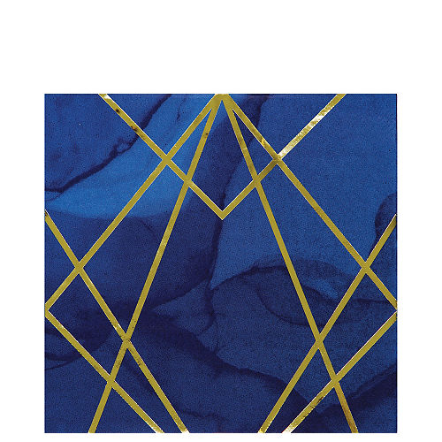 Navy & Gold Geode Lunch Napkins 16ct Image #1