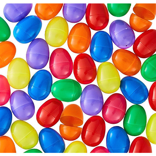Adult Purple Jacket Easter Bunny Costume & Fillable Multicolor Eggs 500ct Image #3