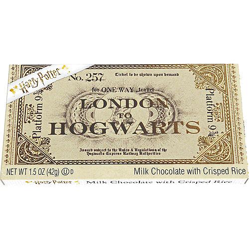 Harry Potter Platform 9 3/4 Ticket to Hogwarts Chocolate Bar Image #1