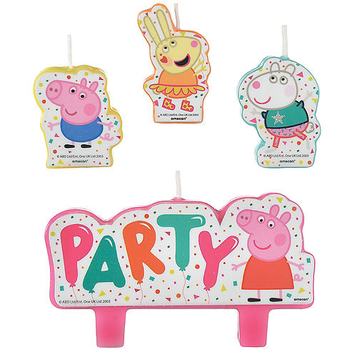 Peppa Pig Confetti Party Birthday Candles 4ct Image #1