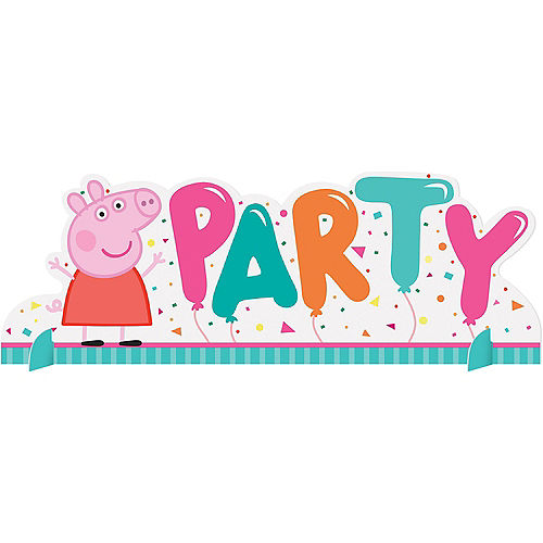 Peppa Pig Confetti Party Centerpiece Image #1