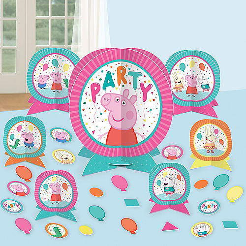 Peppa Pig Confetti Party Table Decorating Kit 27pc Image #1