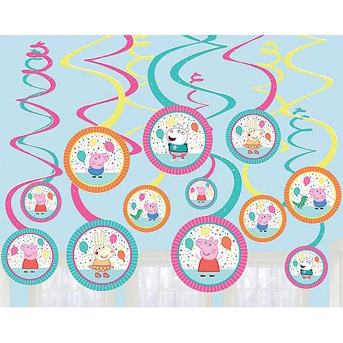 Peppa Pig Confetti Party Swirl Decorations 12ct Image #1