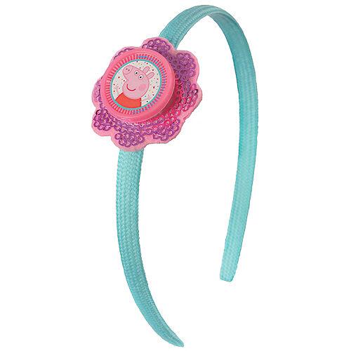 Sequin Peppa Pig Confetti Party Headband Image #1