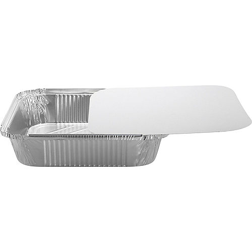 Aluminum Square Pans with Board Lids, 9in, 10ct Image #2