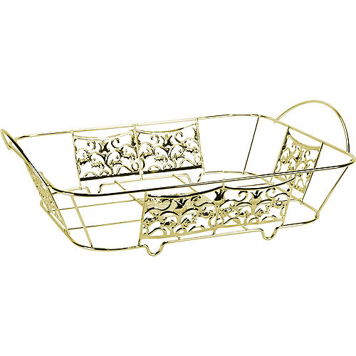Gold Decorative Half-Size Aluminum Pan Holder, 12.75in x 10 .5in Image #1