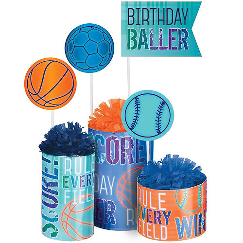 Birthday Baller Tableware Kit for 24 Guests Image #9