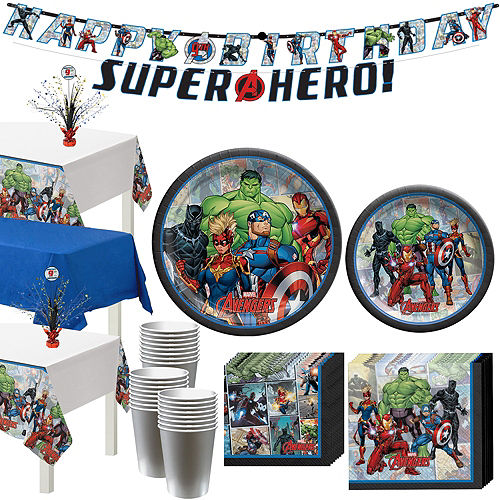 Marvel Powers Unite Tableware Kit for 24 Guests Image #1