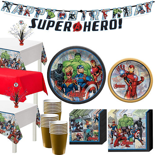 Marvel Powers Unite Iron Man Tableware Kit for 24 Guests Image #1