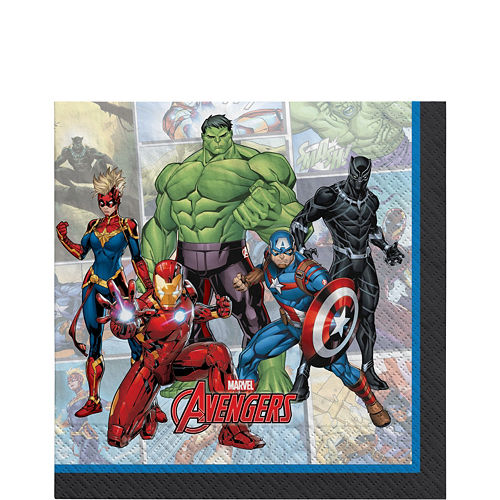Marvel Powers Unite Iron Man Tableware Kit for 24 Guests Image #5