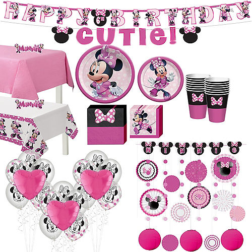 Minnie Mouse Forever Ultimate Tableware Kit for 16 Guests Image #1