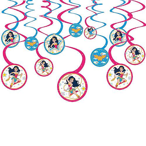 Superstar Wonder Woman Swirl Decorations 12ct Image #1