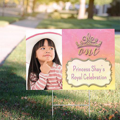 Custom Once Upon a Time Disney Princess 1st Birthday Photo Yard Sign Image #1