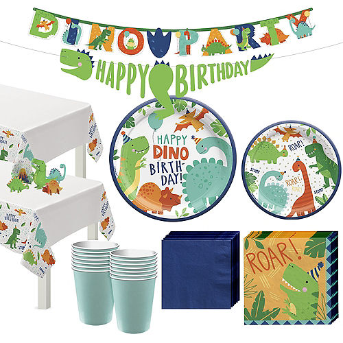 Dino-Mite Birthday Tableware Kit for 32 Guests Image #1