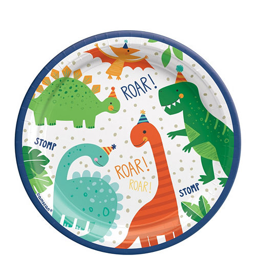 Dino-Mite Birthday Tableware Kit for 32 Guests Image #2