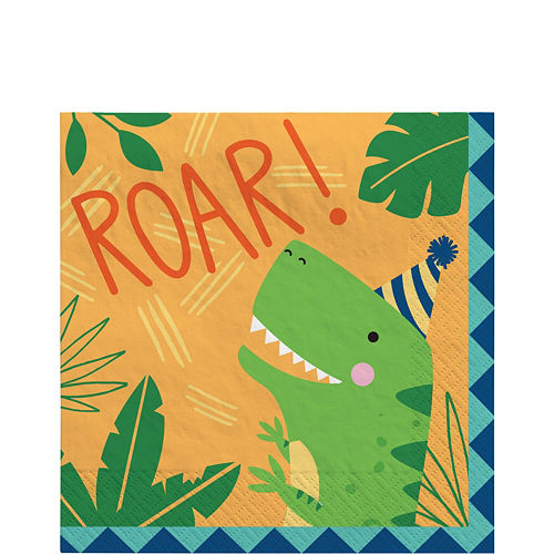 Dino-Mite Birthday Tableware Kit for 32 Guests Image #5