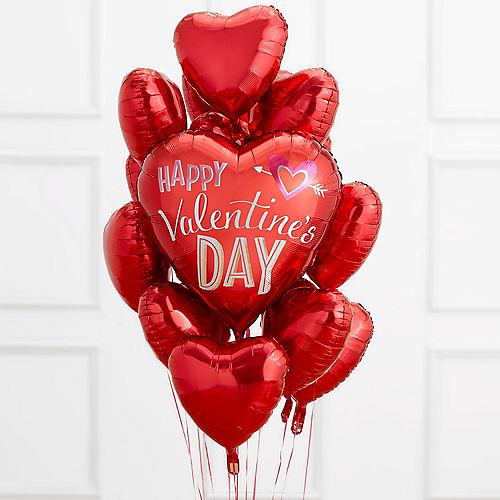Valentine's Day Red Heart Balloon Bouquet Image #1