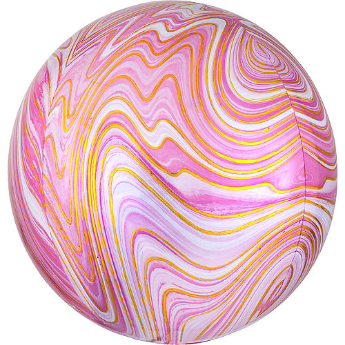 Pink Marble Balloon - Orbz Image #1