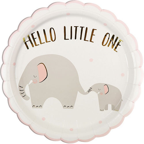 Pink Little Peanut Baby Shower Tableware Kit for 16 Guests Image #3