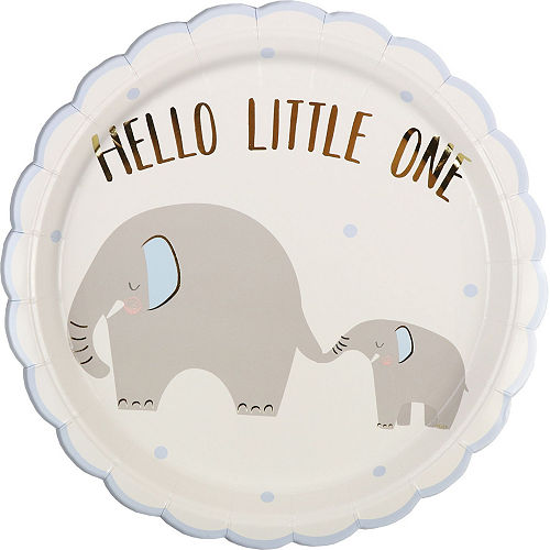 Blue Little Peanut Baby Shower Tableware Kit for 32 Guests Image #3