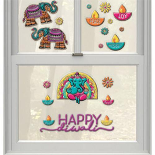 Embossed Diwali Window Decorations, 20pc Image #1